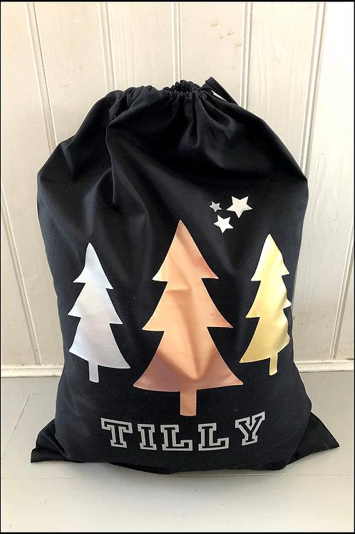 Personalised Christmas Trees Present Bag
