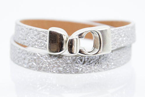Silver Wrap-around Boho-Bracelet