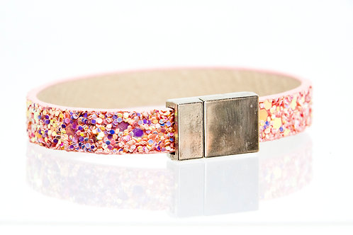 Single Strand Boho-Bracelet (Pink Sparkle)