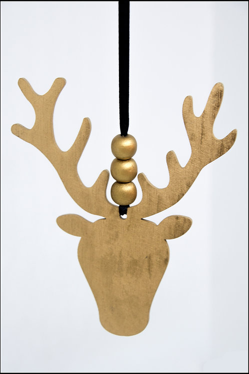 Stag Hanging Decoration - Gold