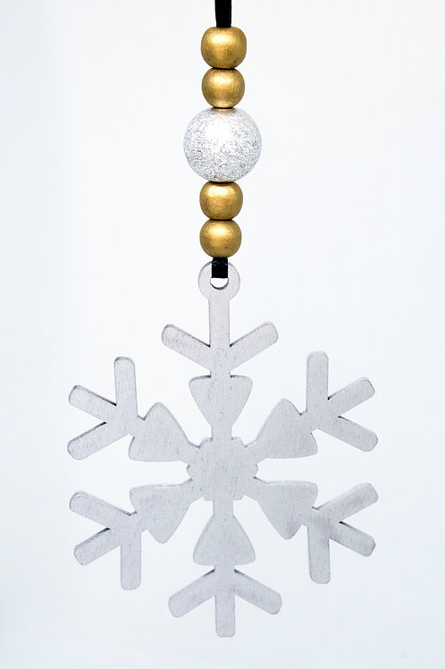 Snowflake Hanging Decoration - Silver