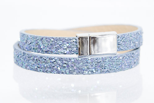 Blue Sparkle Wrap-around Boho-Bracelet