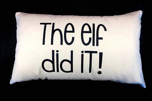 The Elf Did It Cushion