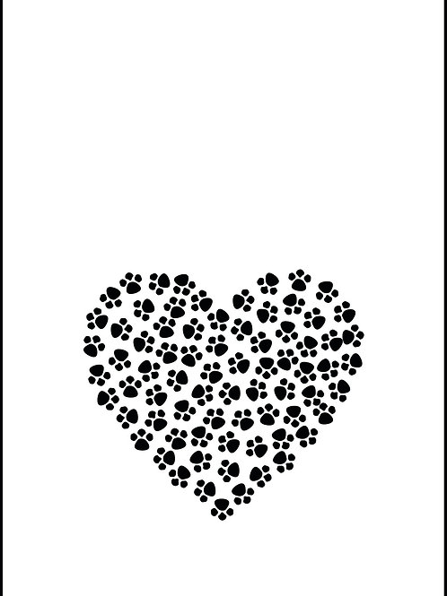 Tea Towel - Paw Prints