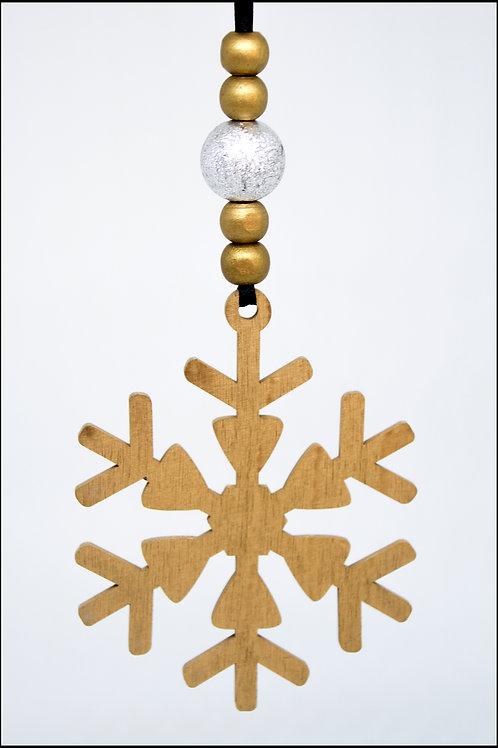Snowflake Hanging Decoration - Gold
