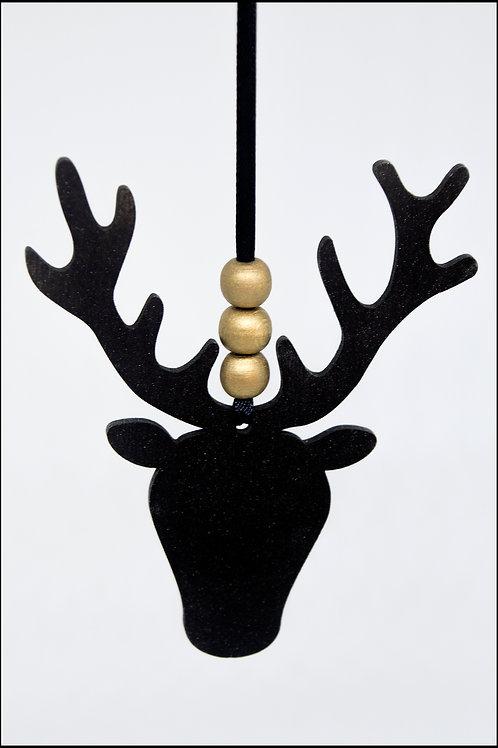 Stag Hanging Decoration - Black