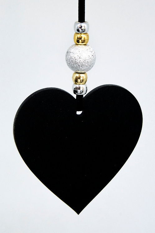 Heart Hanging Decoration - Black