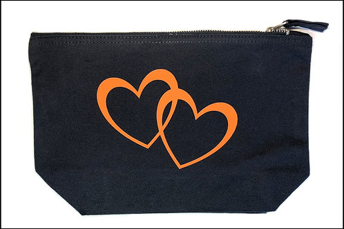 2 Hearts Bag (wide base) Large
