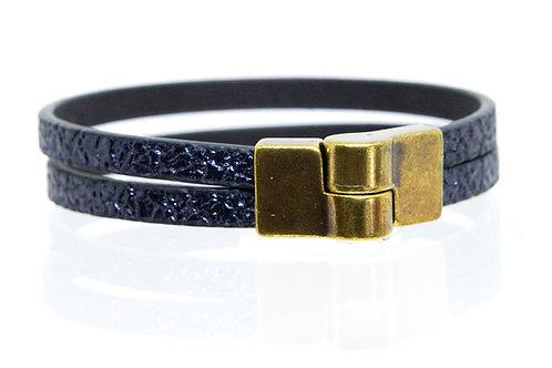2 Strand Boho-Bracelet (Navy)