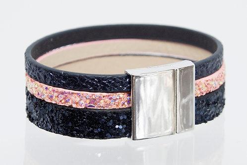 3 Strand Boho-Bracelet (navy sparkle,pink sparkle,navy)