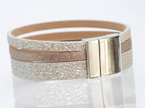 3 Strand Boho-Bracelet (gold,bronze,gold)