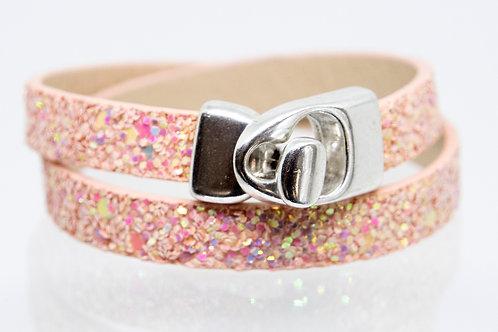 Pink Sparkle Wrap-around Boho-Bracelet