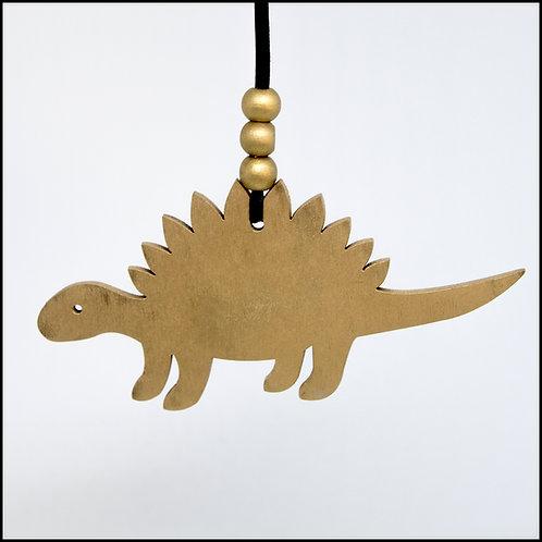 Dinosaur Hanging Decoration - Gold