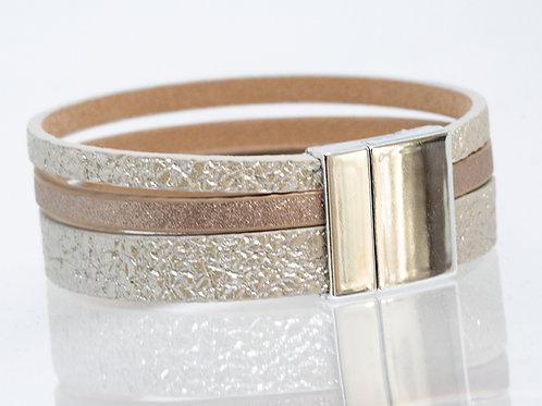 3 Strand Boho-Bracelet (gold, rose, gold)