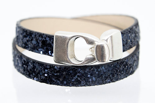 Navy Sparkle Wrap-around Boho-Bracelet