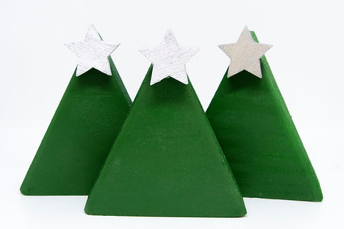 Wooden Trees - small set (many colours)