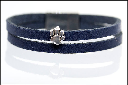 2 Strand Paw Print Charm Boho-Bracelet