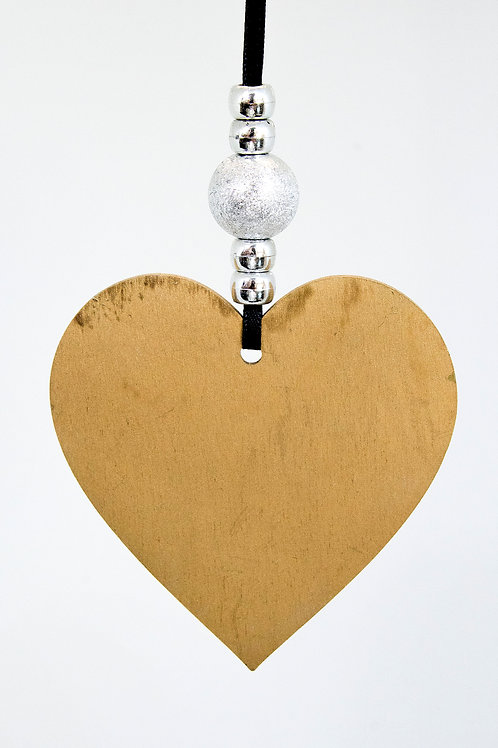Heart Hanging Decoration - Gold