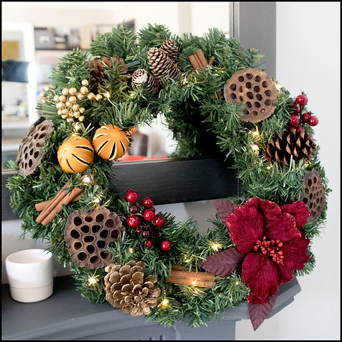 Traditional Wreath - Red Flower 2
