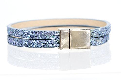 2 Strand Boho-Bracelet (Blue Sparkle)