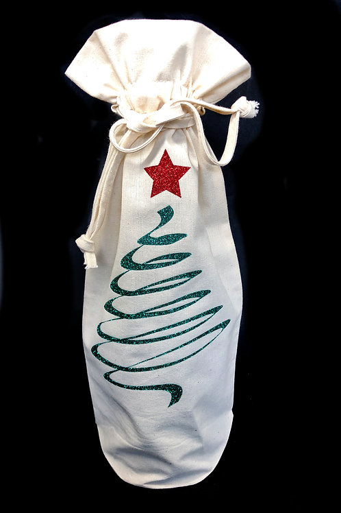 Abstract Tree Bottle Bag