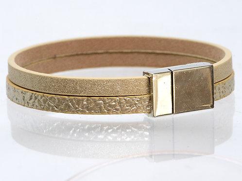 2 Strand Boho-Bracelet (Gold, Gold)