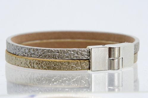 2 Strand Boho-Bracelet (Silver, Gold)