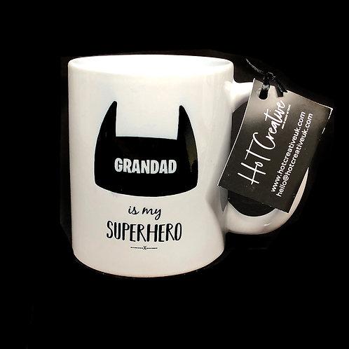 Personalised Grandad is my Superhero Mug