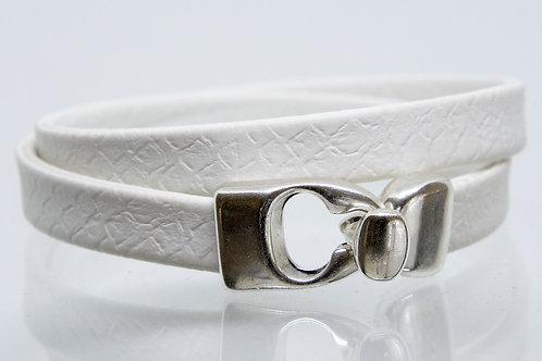 White Wrap-around Boho-Bracelet