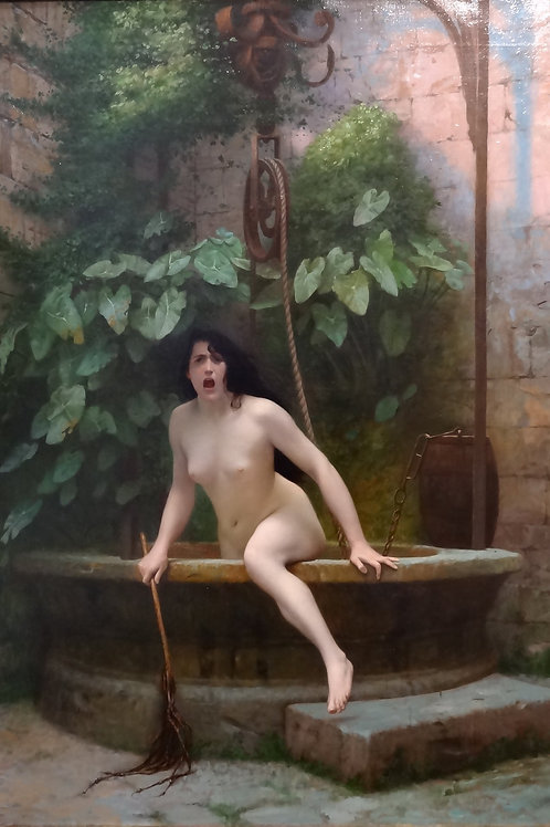 """Truth Coming Out Of Her Well To Shame Mankind"" by Jean Léon Gerome, 1896"