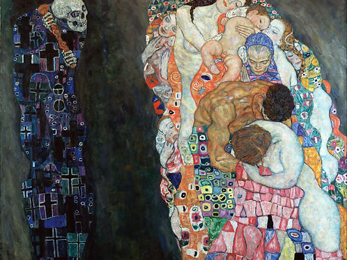 """Death and Life"" by Gustav Klimt, 1916"