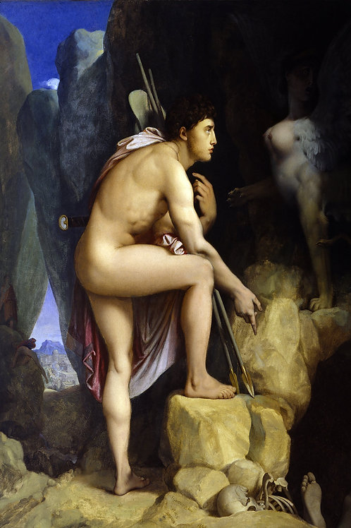 """Oedipus and The Sphinx"" by Jean Auguste Dominique Ingres, 1864"