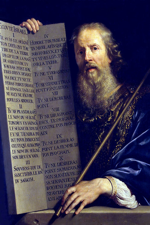 """Moses with the Ten Commandments"" by Philippe de Champaigne -  1648"