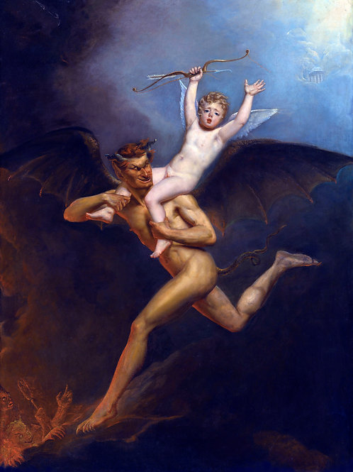 """""""Hades Carrying Eros to The Underworld"""" by Richard Westall, c.1795"""