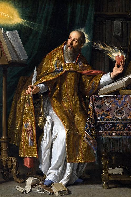 """""""Saint Augustine"""" by Philippe de Champaigne, c.1645"""