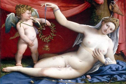 """Venus and Cupid"" by Lorenzo Lotto, c.1520"