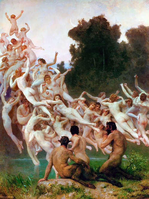 """The Oreads"" by William Bouguereau, 1902"