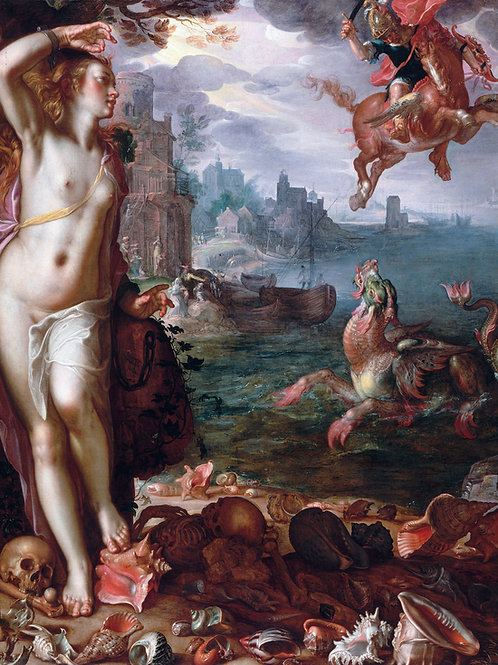 """Perseus and Andromeda"" by Joachim Peter Wtewael, 1611"
