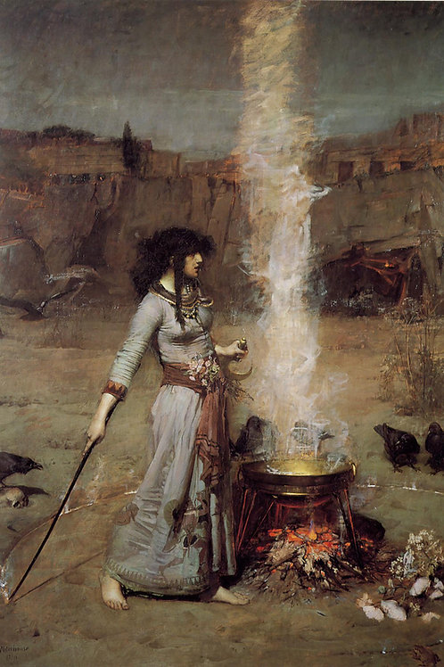 """Magic Circle"" by John William Waterhouse, 1886"