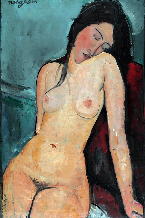 """Female Nude"" by Amedeo Modigliani, c.1916"