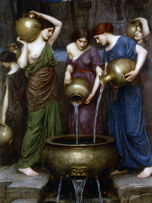 """Danaides"" by John William Waterhouse, 1903"