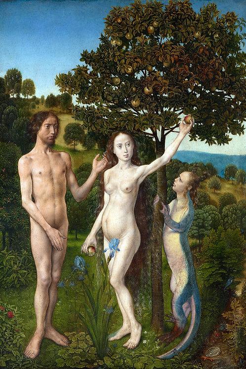 """""""The Fall of Man"""" by Hugo van der Gus, 1475"""