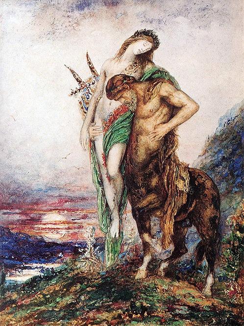 """Dead Poet Borne by Centaur"" by Gustave Moreau, 1890"