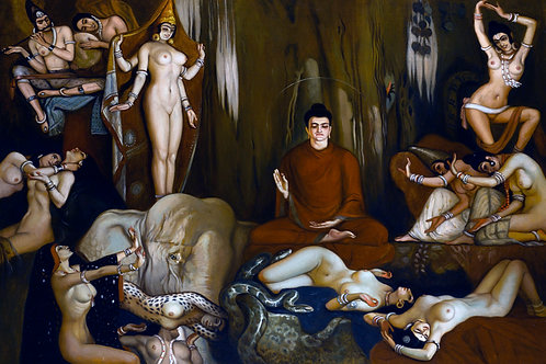 """The Buddha's Temptation"" by Eduardo Chicharro Aguera, 1921"