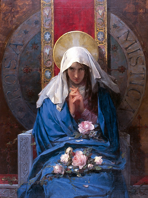 """Rosa Mistica"" by Francisco Laporta Valor, 1894"