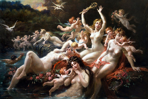 """Sirens and Cherubim"" by Adolph Lalyre, c.1900"