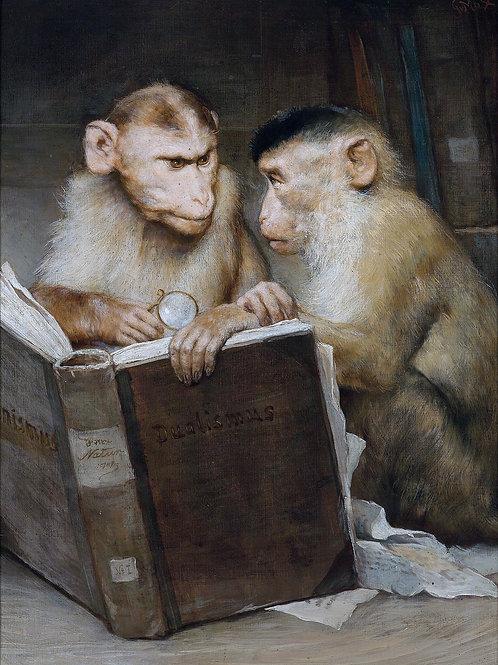 """""""The Scholars"""" by Gabriel Cornelius Ritter von Max, 1898"""
