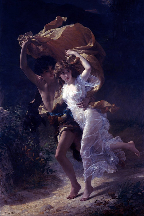 """The Storm"" by Pierre Auguste Cot, 1880"