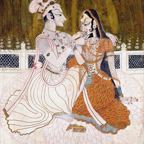 """Krishna and Radha"" by Unknown Artist, c.1750"