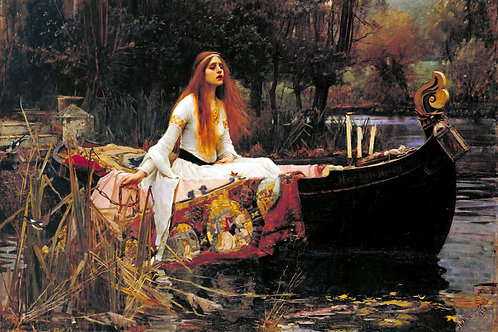 """The Lady of Shalott"" by John William Waterhouse, 1888"